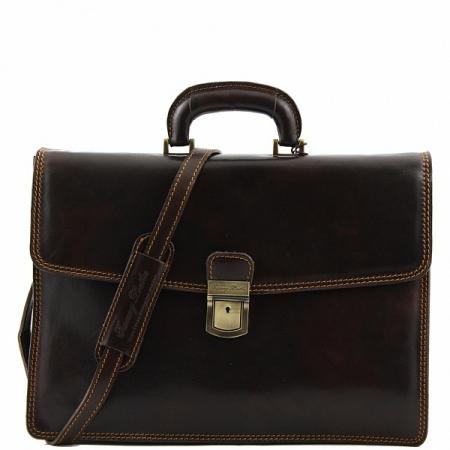 Портфель Tuscany Leather Amalfi Dark Brown