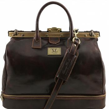 Дорожный саквояж Tuscany Leather Barcellona TL141185 dark brown