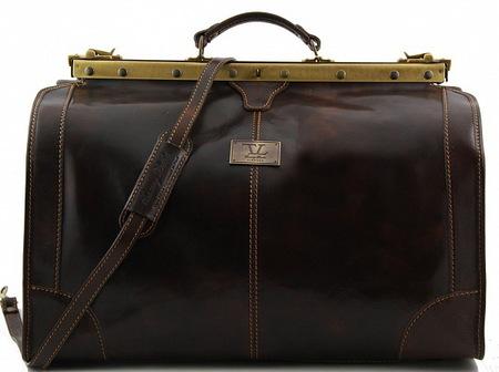 Саквояж Tuscany Leather Madrid - Большой размер TL1022 dark brown