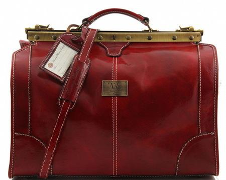 Саквояж Tuscany Leather Madrid - Малый размер TL1023 red