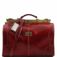 Дорожная сумка саквояж Tuscany Leather Madrid Red Маленькая
