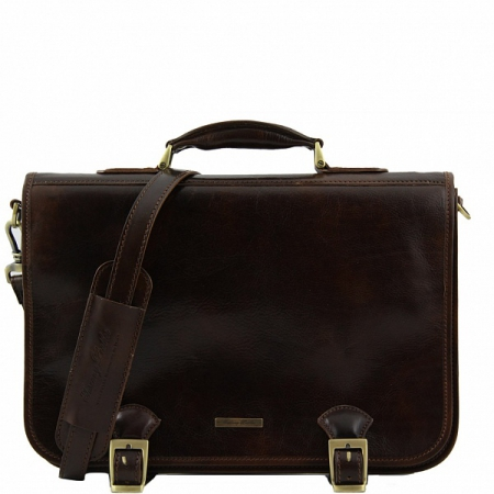 Портфель Tuscany Leather Ancona Dark Brown