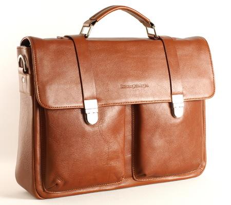 Кожаный портфель EZ 7520 brown