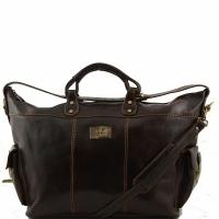 Дорожная сумка Tuscany Leather Porto Dark Brown