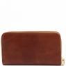 Эксклюзивный кожаный бумажник для женщин Tuscany Leather Dark Brown