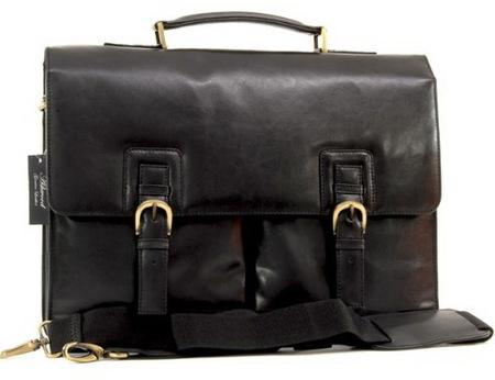 Кожаный портфель Ashwood Leather Gareth black