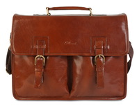 Кожаный портфель Ashwood Leather Gareth chestnut brown