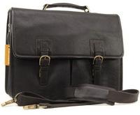 Кожаный портфель Ashwood Leather Gareth dark brown