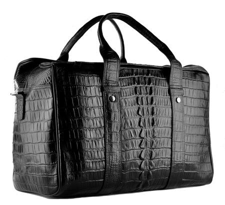 Кожаная дорожная сумка GA 2897-17 black