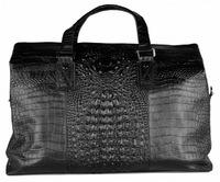 Кожаная дорожная сумка GA 2897-16 black