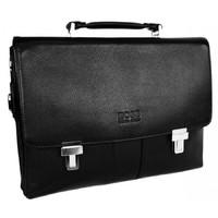 Кожаный портфель HB 5013-1 black
