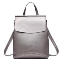 Женский кожаный рюкзак JMD 8504-1 silver