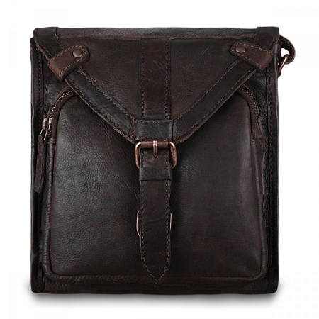 Сумка-мессенджер Ashwood leather Plato Brown