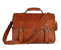 Кожаный портфель-рюкзак  JMD 7161B brown