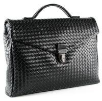 Плетеный портфель BV 28817 black