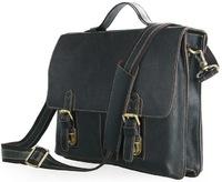 Кожаный портфель JMD 7090A black