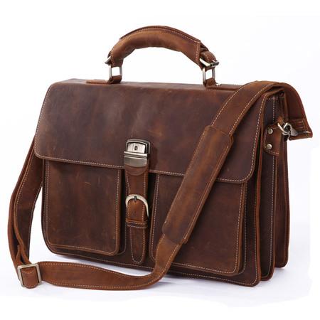 Кожаный портфель JMD 7164R