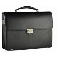 Кожаный портфель SF 6615 black