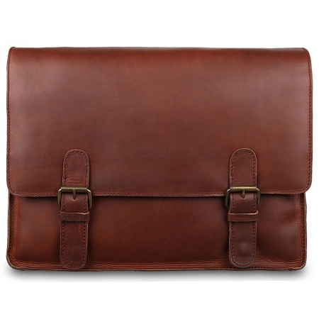Сумка-мессенджер Ashwood leather Thales Brown Burn