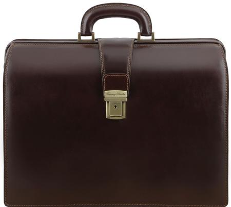 Саквояж-портфель Tuscany Leather Canova TL141347 dark brown
