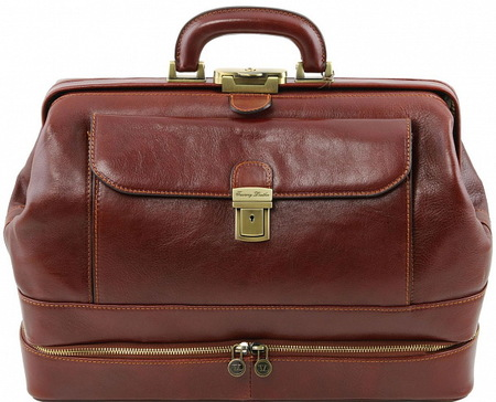Саквояж  с двойным дном Tuscany Leather Giotto TL141297 brown