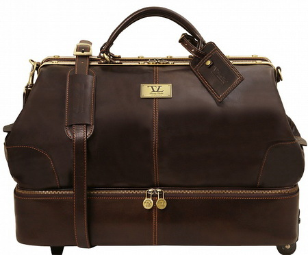 Саквояж на колесах Tuscany Leather Siviglia TL141451 dark brown